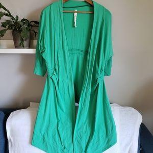 Lululemon Namaste Wrap Open Cardigan Green 6
